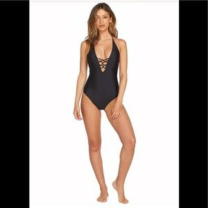 Volcom One Peace Swiming Suit, Black, Size M, New